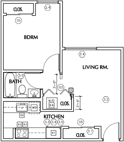 Unit A - One Bedroom / One Bath - W/D*